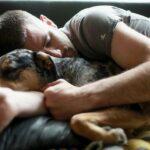 cuddling dogs health